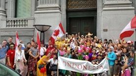 Masyarakat Indonesia Meriahkan Hari Kemerdekaan Kanada ke-150 di Montréal