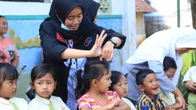 KKN 30 UMM Ajak Anak-Anak untuk Tanamkan Hidup Sehat Sejak Dini