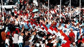 Antusiasme Masyarakat Kota Makassar Dalam Kirab Obor Asian Games 2018