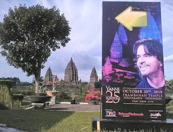 "Candi Prambanan Jadi Venue Konser Orkestra ""Yanni 25 Acropolis"""
