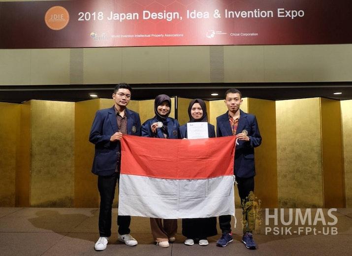 Mahasiswa UB Raih Silver Medal dalam Japan Design and Invention Expo 2018