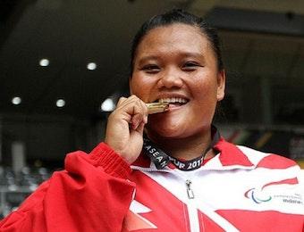 Luar Biasa! Suparni Yati, Atlet Tolak Peluru Berhasil Pecahkan Rekor ASIA di ASEAN Para Games 2017