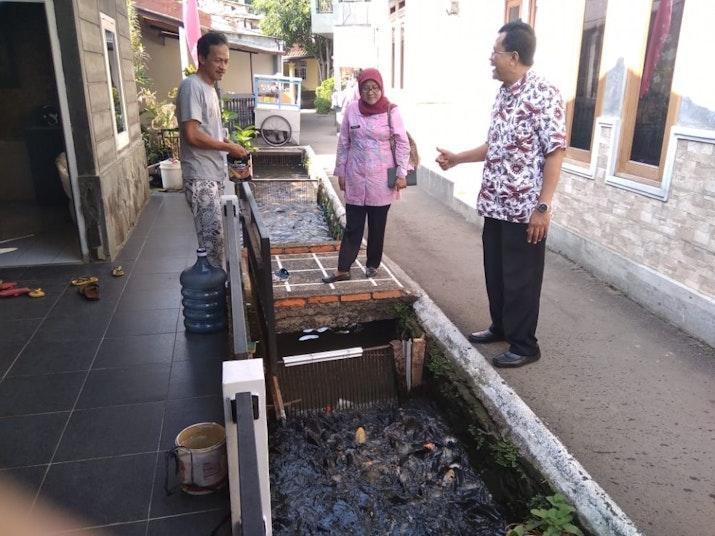 Mengubah Selokan Menjadi Tempat Budidaya Ikan