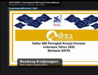 Daftar 500 Peneliti Terbaik di Indonesia versi SINTA
