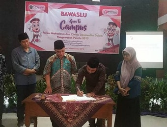 Bawaslu Jombang Gandeng Unipdu Jombang Kawal Pemilu 2019
