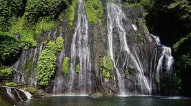 Segarnya Air Terjun Kembar Banyumala, Bali