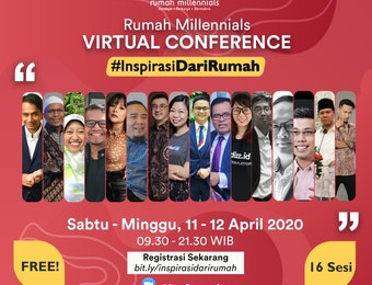 #InspirasiDariRumah Melalui Virtual Conference Bersama Tokoh Muda Inspiratif