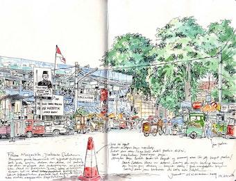 Corat-Coret Indonesia dalam Kertas Sketsa