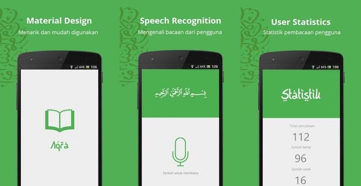 Membaca Al-qur'an dengan Baik dan Benar dibantu Aplikasi Ciptaan Dua Siswa ini