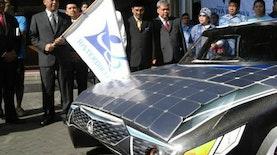 Mobil Listrik karya mahasiswa Institut Teknologi Sepuluh Nopember diuji coba Tour de Java Bali