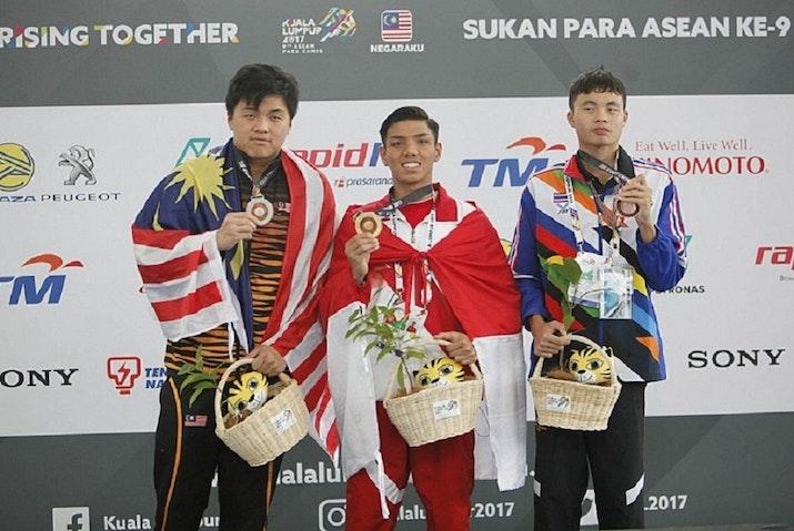 Muhammad Bejita, Si Atlet Sumatera Selatan Yang Pecahkan Rekor  ASEAN Para Games 2017 di Cabor Renang.