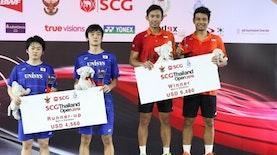 Ganda Putra Indonesia Juara Kompetisi Bulutangkis Thailand Terbuka