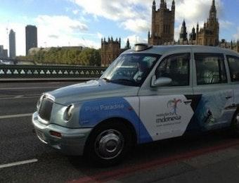Pampang Wonderful Indonesia di Black Cab London