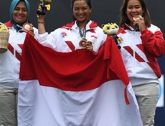 Hebat! Tim Panahan Putri Indonesia Persembahkan Medali Perunggu SEA Games 2017 untuk Kemerdekaan