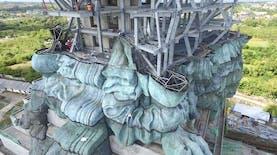 Patung Raksasa yang lebih Tinggi dari Patung Liberty New York, Sedang Diselesaikan di Bali
