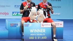 Menang!! Pasangan Fajar – Rian Juarai Korean Open 2019