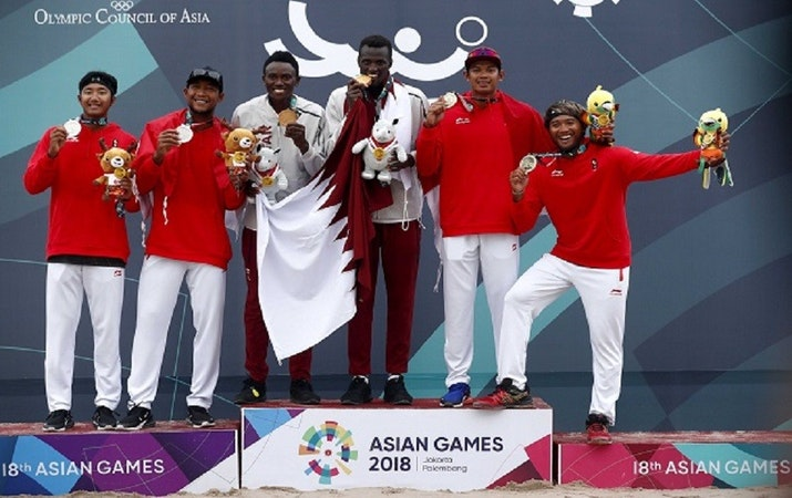 Perolehan Medali Asian Games 2018 Cabang Olahraga Voli Pantai