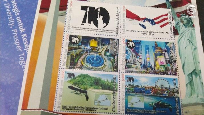 Prangko Spesial di Perayaan 70 Tahun Hubungan RI-AS