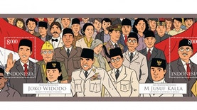 Prangko edisi spesial ala Tintin untuk HUT RI ke-70