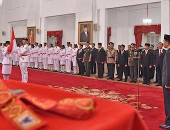 Keberagaman Pasukan Pengibar Bendera Pusaka di Upacara Hari Kemerdekaan Indonesia ke 72