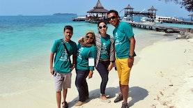 Pulau Sepa Wisata Pantai Yang Landai Dan  Hamparan Pasir Putih