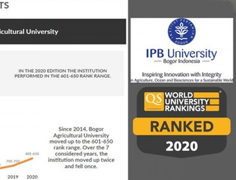 IPB University dalam QS World University Ranking Naik 100 Tingkat