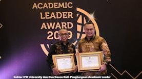 Rektor IPB University dan Dua Dosen Raih Penghargaan Academic Leader 2019