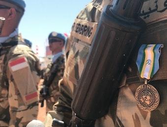 Pasukan Garuda Satgas Yonkomposit TNI Konga XXXV-D di Sudan Raih Medali Kehormatan Dari PBB