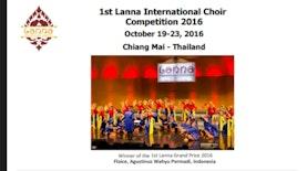 Paduan Suara Floice Fakultas Teknologi Pertanian UB Juara Umum 1st Lanna Choir Competition Chiang Mai Thailand