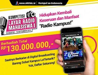 Radio Berformat Live Video di Kompetisi Arena.id