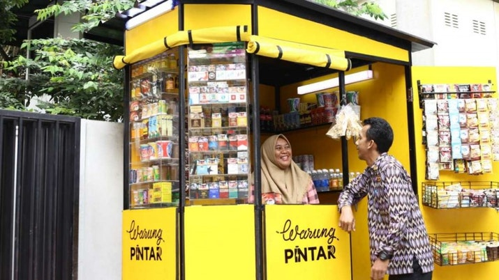 Start Up Lokal 'Warung Pintar' Raih Suntikan Dana Rp390 Miliar