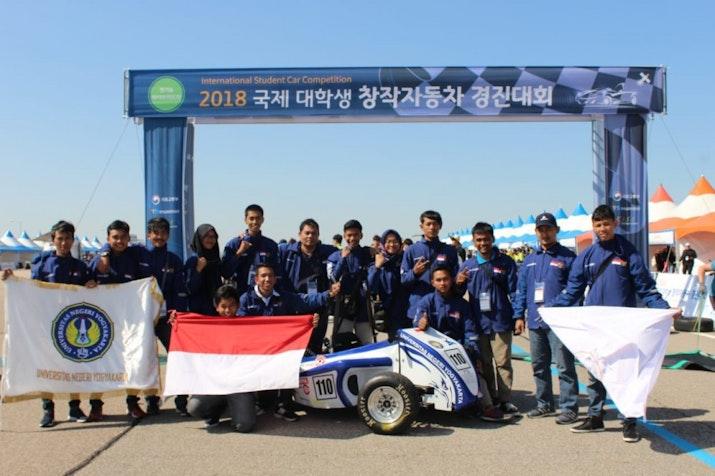 Garuda UNY Menjuarai Kompetisi Mobil di Korea Selatan