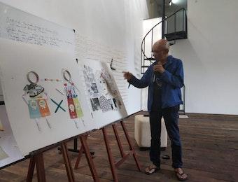 Belajar Bersama Maestro di Studiohanafi: Menyampaikan Pesan Dalam Karya