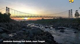 120 Jembatan Gantung Selesai Dibangun di 22 Provinsi