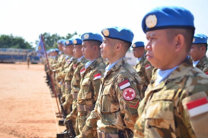 Begini Perayaan Upacara HUT ke-73 TNI di Sudan!
