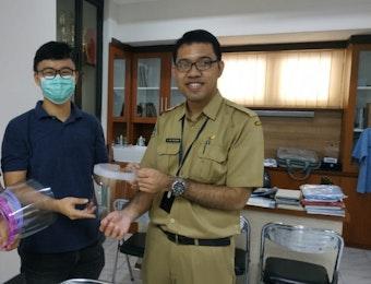 ITS Produksi Face Shield Mask untuk Kurangi Kelangkaan APD