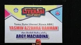 Bagi Yasmin Azzahra Rahman, Sang Duta Literasi Anak: Menulis adalah Melawan