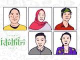 Gambar sampul Selamat Idulfitri 1442 Hijriah, Mohon Maaf Lahir Batin