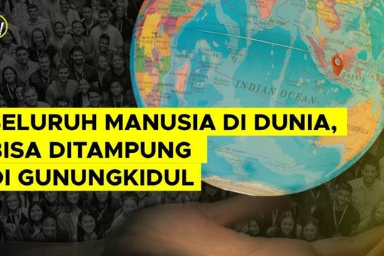 Gambar sampul Seluruh Manusia di Dunia Bisa Ditampung di Gunungkidul